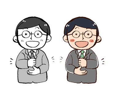 Men in a suit