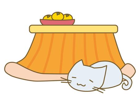 Kotatsu and cat