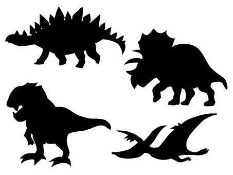 恐龍剪影素材各種流行