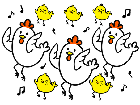 Chicken and chick dance version 2