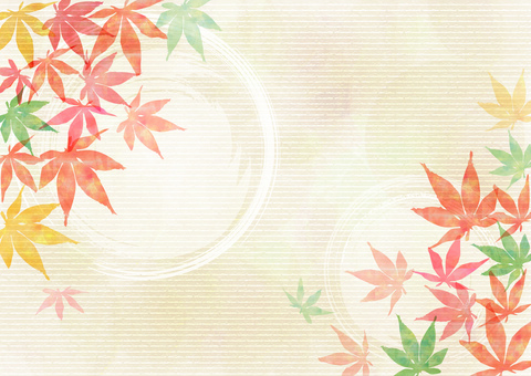 Autumn leaves _ Japanese style background