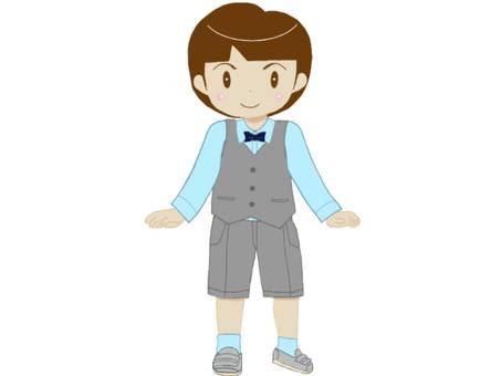 Cute boy wearing a vest suit