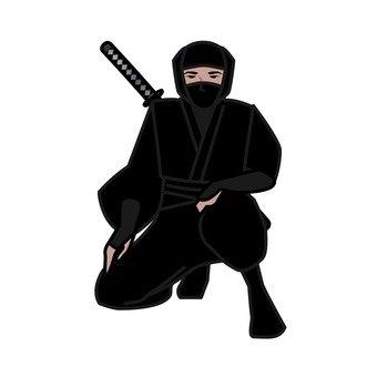 Ninja squatting