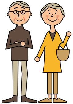Fashionable senior couple _ whole body