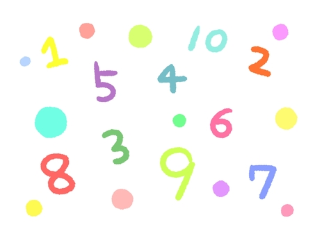 Colorful numbers illustration