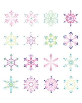 Various snow crystals [4]