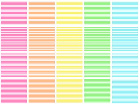 Pastel border 20 kinds set