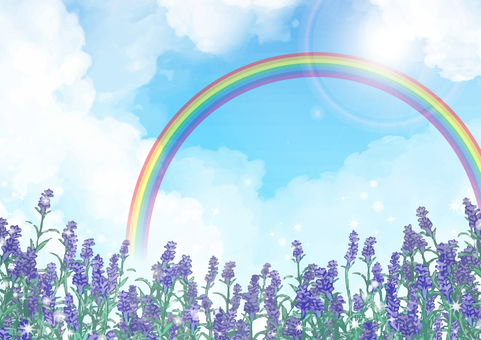 Lavender background (rainbow)
