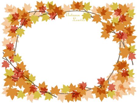 Autumn leaves frame (sideways)