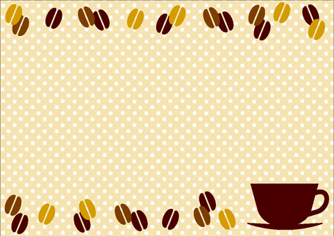 Coffee background frame 04