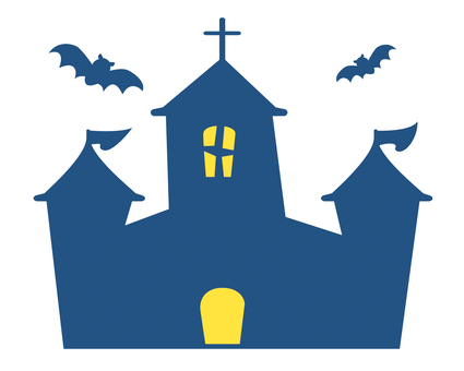 Halloween Castle and Bat 01