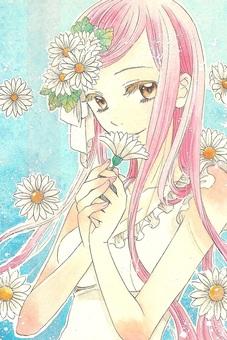 핑크 머리 소녀