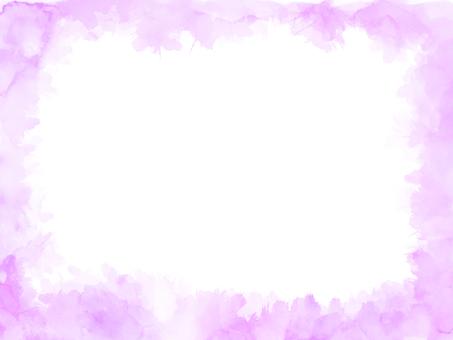 Watercolor texture frame 3 purple