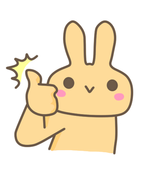 Rabbit (yellow) good pose