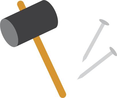 Daily carpenter _ Hammer and nail
