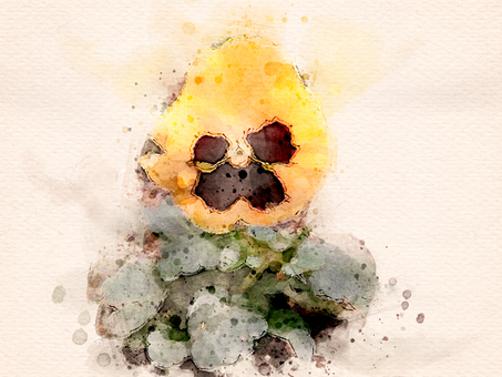 [Watercolor] Pansy (Yellow)