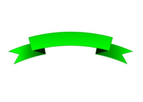 Ribbon frame (green)