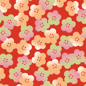 Plum pattern background 4