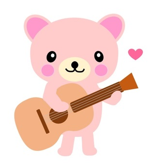 Guitar and bear-chan