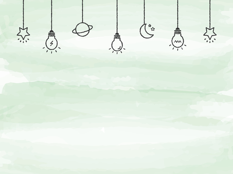 Background Watercolor Touch Light Bulb Deco Green