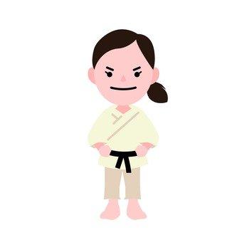 A woman in judo