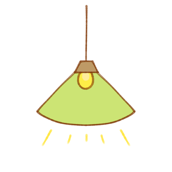 Stylish lamp (green)