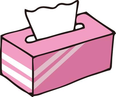 Tissue box (pink)