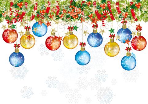Christmas wreath & snow 13