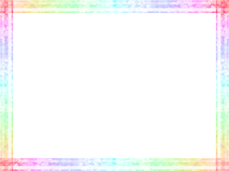 Rainbow color frame (with png data)