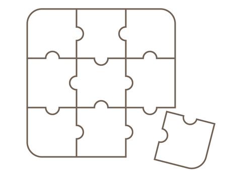 Puzzle piece jigsaw puzzle white 2