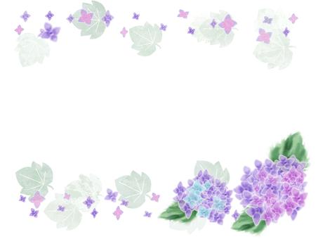 花フレーム 20(紫陽花)