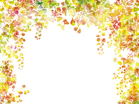 Hand-painted watercolor leaves arch / autumn