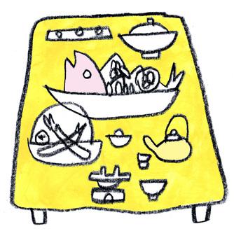 Feast table