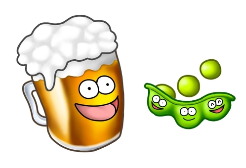 Beer and Edamame Characters