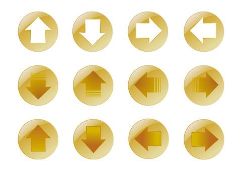 箭頭設置按鈕黃金