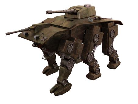 六つの足を持つ歩行型戦車