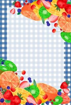 과일 프레임 파랑