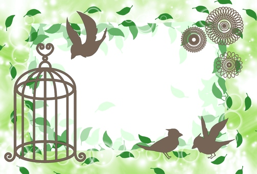 Birds and leaf templates (green)