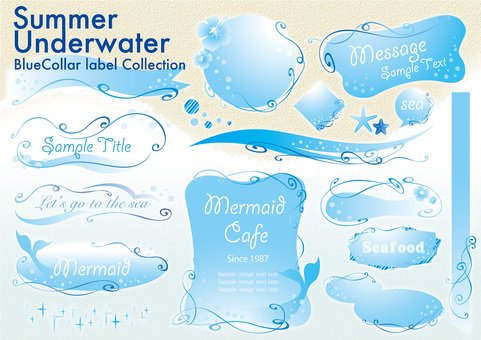 Summer underwater label