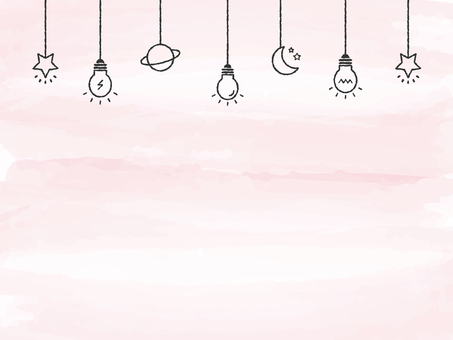 Background Watercolor Touch Light Bulb Deco Pink