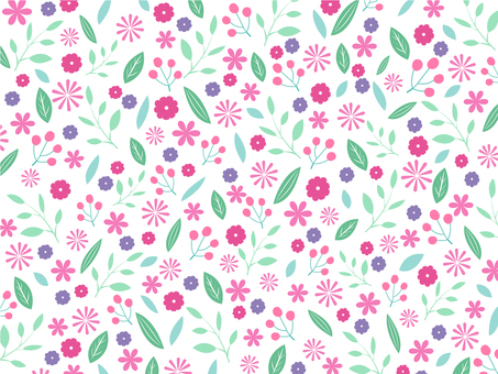 Pink and mint green flower pattern