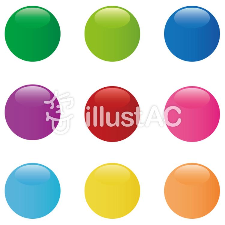 9色の丸ボタンアイコンイラスト No 361809無料イラストなら