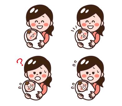 嬰兒和母親設置
