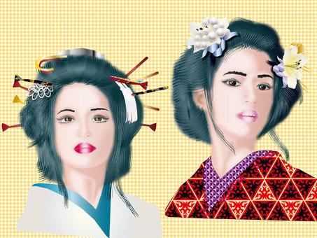 Japanese hair lady 20
