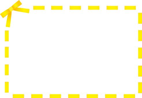 Ribbon stitch frame <Yellow>