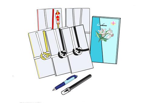 Funeral Golden Seal Pen Set