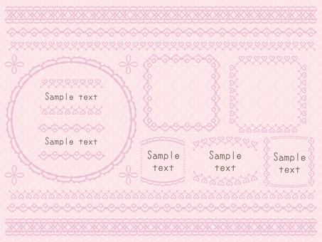 Lace set <Pink>