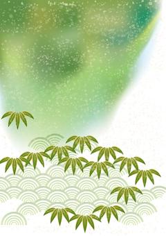 お正月笹の葉&青海波35