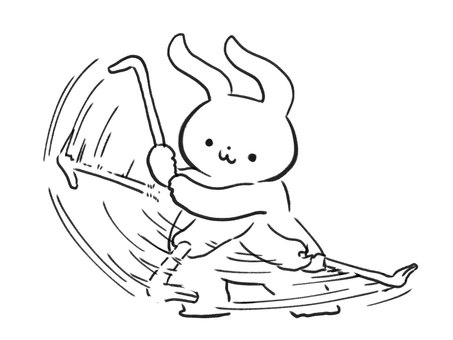 [Line art] Things like a crowbar and a rabbit