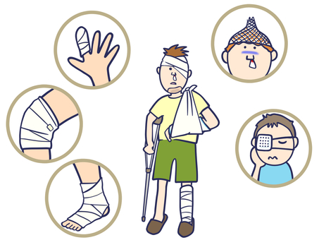 Injury bandage men